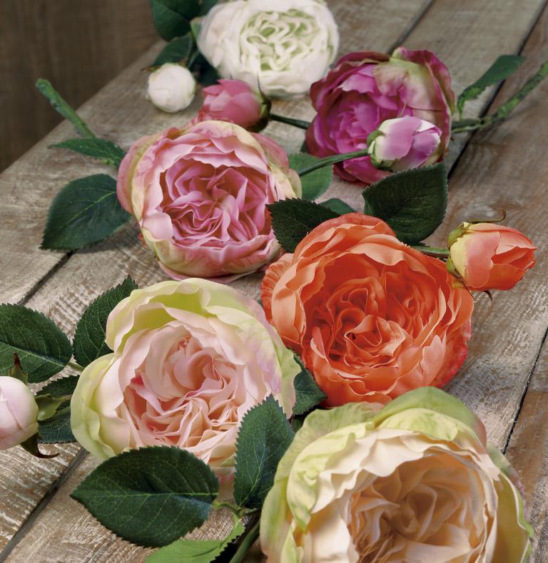short-stemmed roses